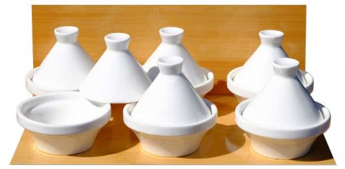 White small Tagine dishes 7cm X6 ceramic - GOTO